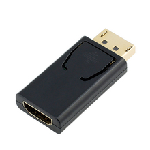 Hot Display Port DisplayPort DP Male to HDMI Female Converter Cable Adapter Video Audio Connector for HDTV PC Media Player