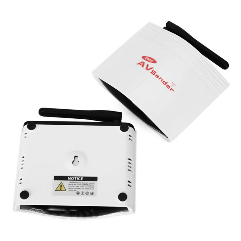 Only Receiver for PAT 536 5.8Ghz Smart Digital STB Wireless Sharing Device AV Audio Video Receiver With IR Remote Extender 200M<br>