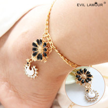 Trendy Summer Style Swan Beach Anklets for Women Gold Anklet Bracelet Designs Daisy Foot Jewelry Anklets 2015 Brand FL-99(China)