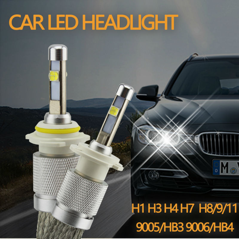 Factory Outlet Ossen 12V 2.6A R3S H7 LED Headlights 80w 9600lm 6000k Xenon White H1 H3 H4 HB3 H8 H9 H11 LED Bulb Headlight<br><br>Aliexpress