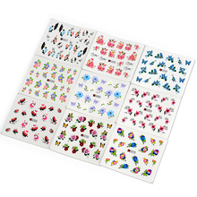 Mileegirl 50sheets Watermark Nail Stickers,Mix Designs Flower Water Transfer Nail Stickers,Water Decals DIY Decoration For Nails