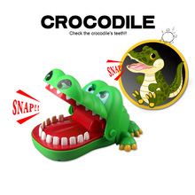 Gags Practical Jokes toy Crocodile dentist parent-child funny game Family interactive toy Gifts For boy girl Kids children(China)