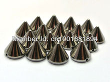 silver plastic spike  2016 fashion 6mm 200pcs/lot  studs nailhead DIY  clothes accessories sewing glue on free shipping