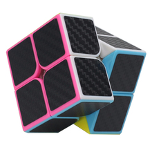 ZCUBE 2*2*2 Carbon Fiber Sticker Speed Smooth Magic Cubes Puzzle Educational Toys Finger Spinner Neo Cube For Children Or Adult