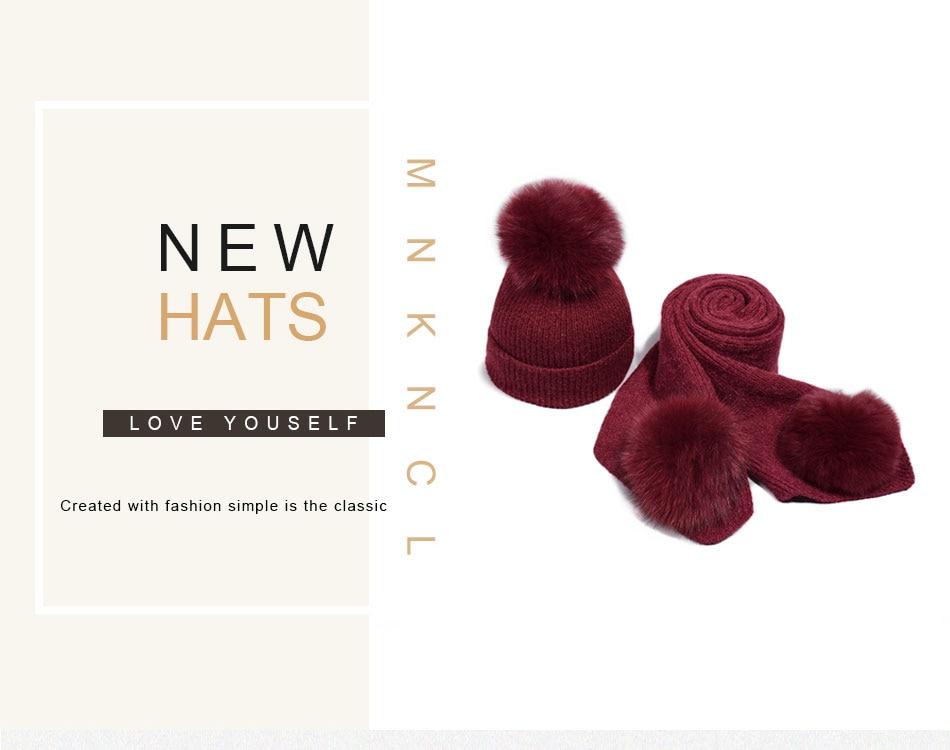 قبعة ووشاح للفتيات 1