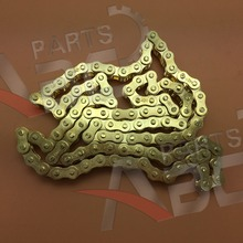 Drive Chain 428 52/104 Gold Steel Split Break Link Pit Quad ATV Bike 50cc-120cc(China)