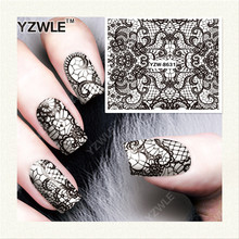 YZWLE 1 Sheet DIY Decals Nails Art Water Transfer Printing Stickers Accessories For Nails YZW-8631(China)