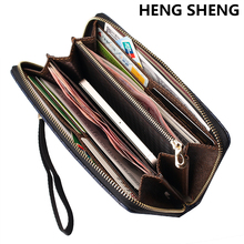 2017 new arrival  leather men wallets quality PU long clutch fashion designer card holders business handbags clips purse pocket