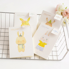 Creative student cute rabbit Graffiti book stationery Notepad 32K blank notebook A5 Diary notebook Original hand book for kids(China)