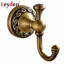 Leyden Antique Brass/ ORB Single Towel Hook Clothes Hook Wall Mounted Copper Coat Hooks Vintage Hooks Robe Bathroom Accessories