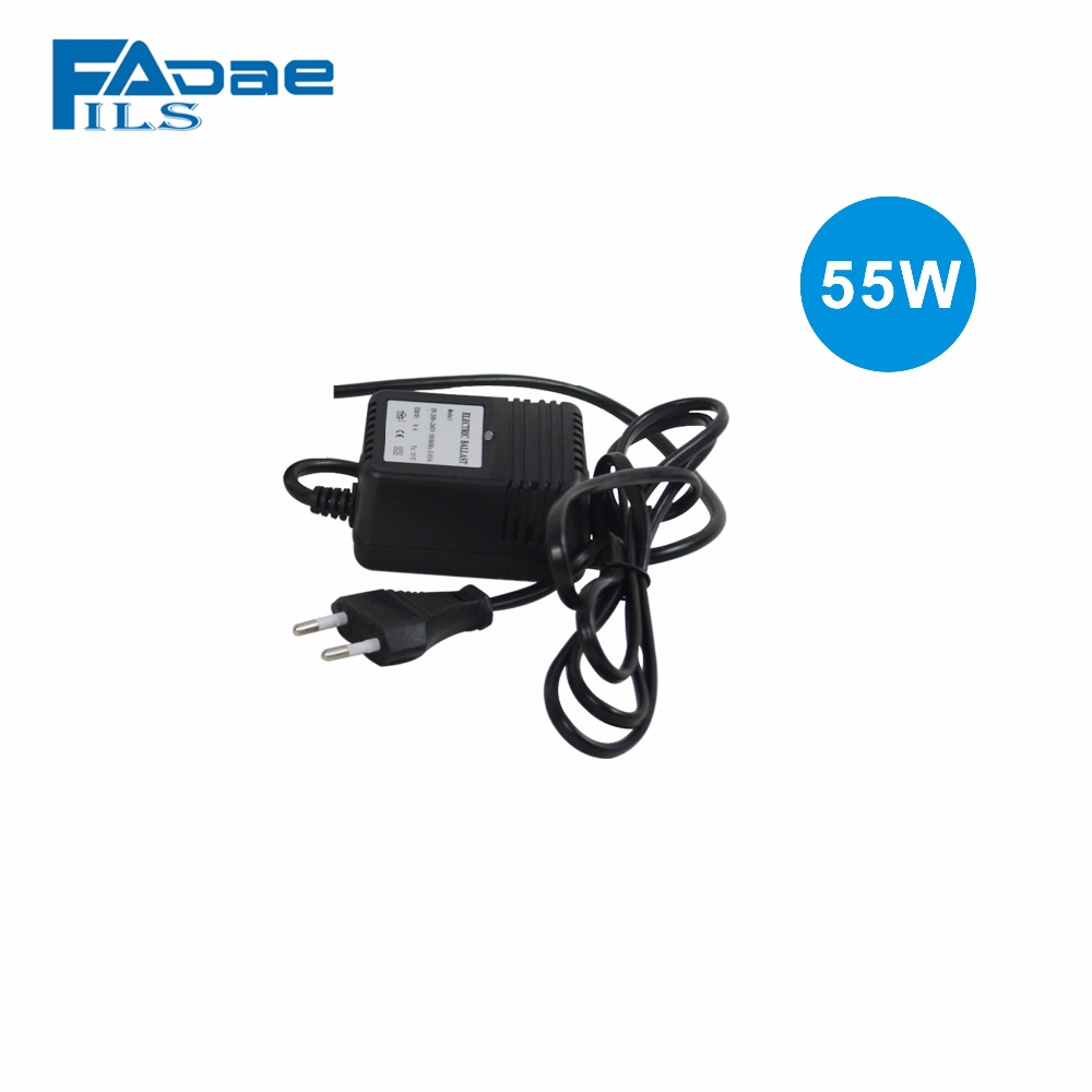 55W UV Ballast for our 12 GPM Ultraviolet Light Water Sterilizer/Europe Two-pin plug/Power:200-240V<br>