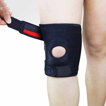 Brand Blight Adjustable Elastic Knee Support Brace Patella Knee Pads Hole Sports Safety Guard Strap For Running(China)