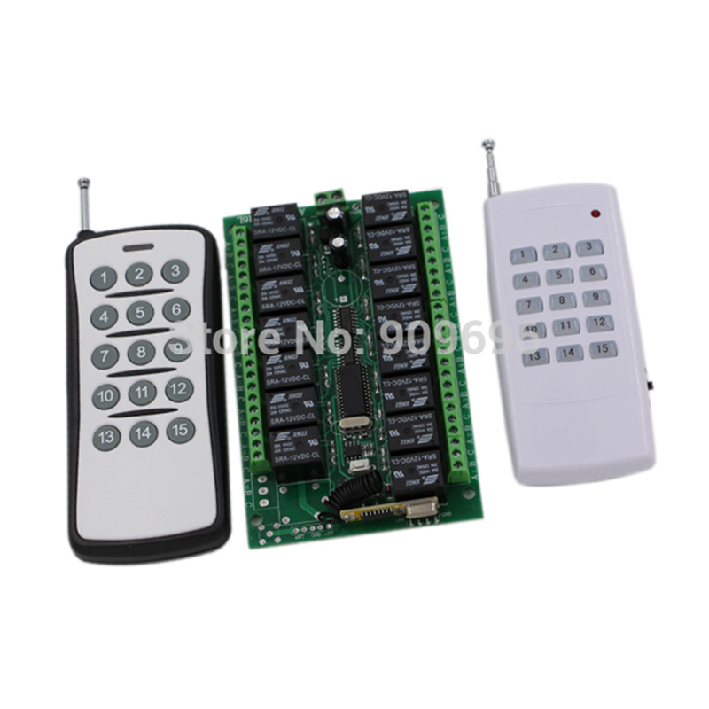DC12V RF Remote Control Switch System 15CH Channel Receiver Transmitter Wireless ON/OFF<br>