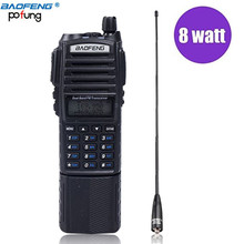 Baofeng UV-82 True 8W High Power 3800mAh Battery Walkie Talkie Dual Band 136-174&400-520mhz+NA-771 Antenna 10KM Long Range