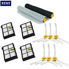 NTNT 1 set Tangle-Free Debris Extractor Brush +4Heap filter +6 side brush for iRobot Roomba 800 Series 870 880 Vacuum Cleaner(China)