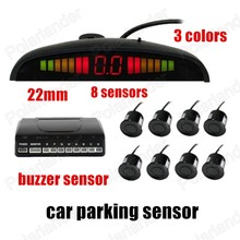LED Display 8 Sensors Reversing Radar System car Parking sensor Buzzer sensor 4 front Parking Sensors 22mm 3 colors