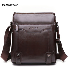 VORMOR Brand Fashion PU Leather Men's Messenger Bags Portfolio Office Men Bag, Quality Travel Shoulder Bag Handbag for Man(China)