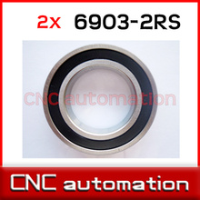 2pcs hub shaft 440 stainless hybrid ceramic ball bearings S6903 6903 2RS 17*30*7mm Si3N4 FOR 17MM SHAFT