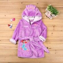 2018 Children's Robes Boys Girls Cartoon Print Sleepwear Kids Pajamas Bathrobes Kids Hooded Children Girl Night-Robes