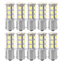 Car-Styling 10Pcs Car Lights 1156 BA15S / 1141 / 1073 / 1095 Base 18 SMD 5050 LED Auto Replacement Bulb Light 12V New