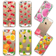 Colorful Fruit Pineapple Lemon Painted Soft Sillicon Back Cases Cover For Apple iphone 5 5s SE 6 6s 6 plus Phone Cases