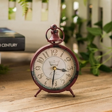 Antique Style Creative Home Desk Clock Retro Bedroom Home Decoration Electronic Clock Ornaments Vintage Table Clock Despertador(China)