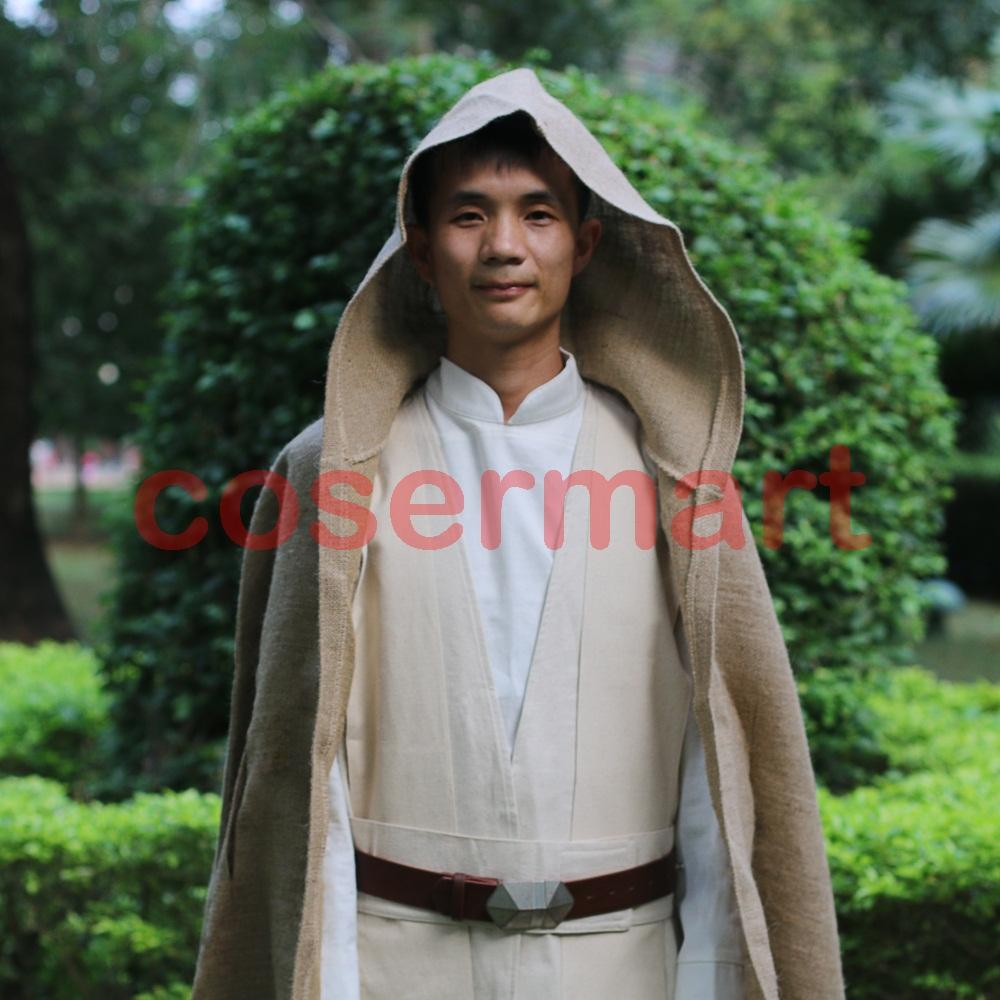 Free Shipping NEW Star Wars Jedi Luke Skywalker Custom Cosplay Costume Made Full Set COS Halloween Costume Christmas (5)