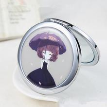 Fashion Girl Portable Makeup Mini Pocket Double Dual Sides Cosmetic Compact Mirror Tool Gift Random Color(China)