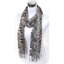 Free ship lady fashion scarf 100%cotton scarf snake leather Women floppy autumn winter long scarf cheap girl female accessories
