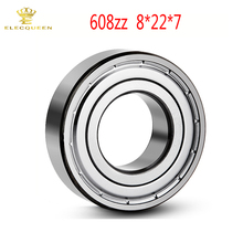 10pcs Miniature Ball bearing 608 ZZ 8x22x7mm ABEC-5 printer accessories Chrome Steel Thin Wall Deep Groove