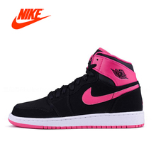 Original New Arrrival Official Nike Air Jordan 1 Mulberry Women's Retro High Top Basketball Shoes Sports Sneakers(China)