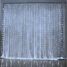 6M x 3M 600 LED Home Outdoor Holiday Christmas Decorative Wedding xmas String Fairy Curtain Garlands Strip Party Lights(China)