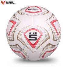 2017 High Quality Match Trainning Soccer Ball Size 5 Sports Football Goals Machine Sewing PVC Balls With Metal Gas Needle Gifts(China)