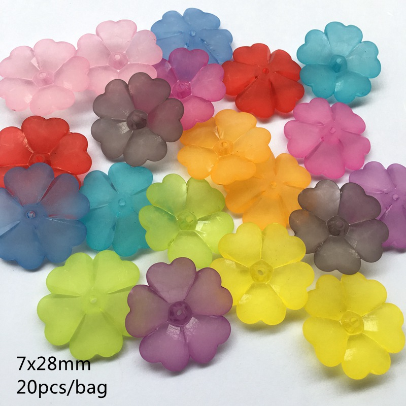 Lots Clear Acrylic Heart//Flower//Star Shape Loose Spacer Bead DIY Jewelry Making