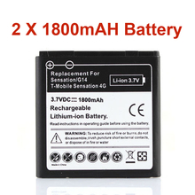 2Pcs 1800mAh Bateria For HTC Shooter G14 Sensation G17 Z710e EVO 3D Sensation 4G Rechargeable Phone Battery Batteries(China)