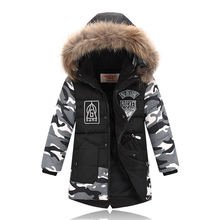 Kids Winter Coats Baby Boys Outerwear Down Jacket Boys Winter Coats Duck Down Boys Winter Parkas 2 3 4 5 6 7 8 9 10 years old(China)