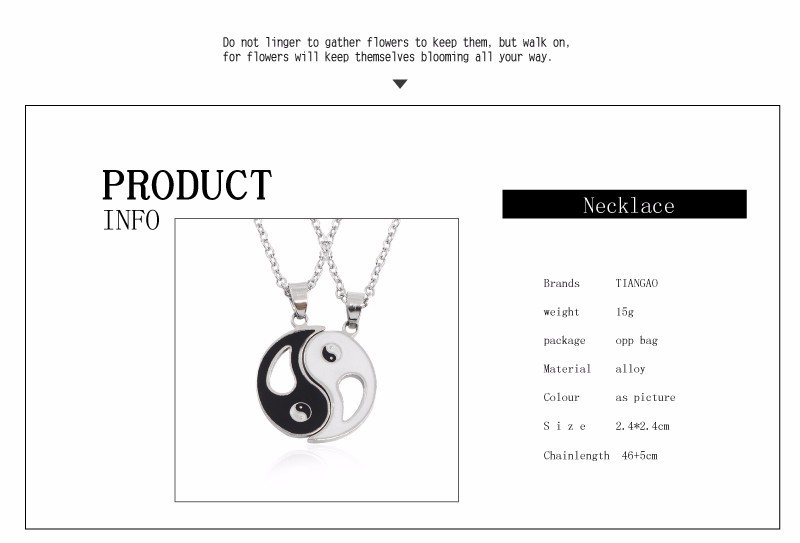 Ying-Yang Symbol BFF Necklaces For 2