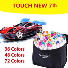 TouchNew 7th Artist Dual Tip Alcohol Based Touch Marker Pen Set Art Markers Manga Design Drawing Comic Sketch Art Supplies