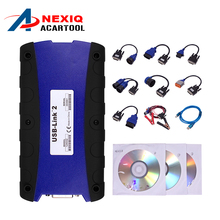 2017 New NEXIQ USB Link Truck Diagnostic Tool With Full Set NEXIQ-2 USB Link With Software Diesel Truck Interface DHL free