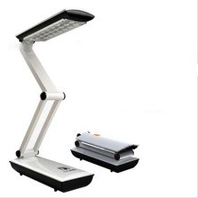 360 ROTATING LED Folding Rechargeable Reading Desk Table Lamp Light Touch Control Steples Dimming Protect Your Eyes