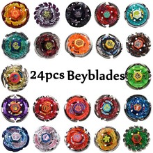 24pcs/set Beys Metal Funsion 4D Without Launcher Spinning Top Christmas Gift Toy Beyblade Toy For Sale #E(China)