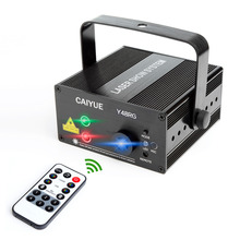 Laser Light 48 Patterns LED Projector DJ Gear Stage Lighting Red and Green Show With Blue Auto Sound active Professional Disco(China)