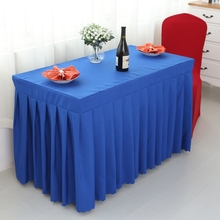 Rectangle Small Polyester Jacquard Hotel Restaurant Tablecloths Wedding TableSkirt For Sale(China)