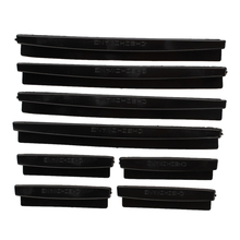 8pcs Car Door Edge Guards Trim Molding Protection Strip Scratch Protector Black