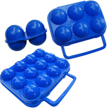 Hot Carry 2/6/12 Eggs Container Holder Storage Box Case Folding Portable Plastic(China)