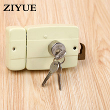 Free Shipping Boutique Copper Head Double Tongue High Insurance Anti - Theft Lock Wooden Door Iron Door Mechanical Lock