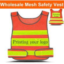 Spardwear Hi vis orange safety refletive vest printing logo security vest cycling night reflective vest