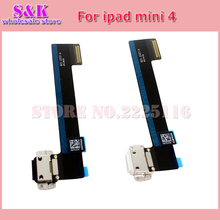 (5 pcs/lot) Free shipping USB Charger Dock Connector Charging Port Flex cable Ribbon For ipad mini 4 4th