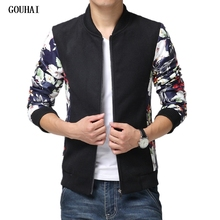 GOUHAI Fashion Bomber Jacket Men 2017 Mens Fall Jacket Men Casual Jackets Jaqueta Masculina Plus Size M-6XL 7XL 8XL