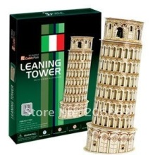 CubicFun 3D puzzle paper model DIY toy Italy Leaning Tower of Pisa New Edition educational creat decoration gift C706H(China)